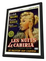 Nights of Cabiria - 27 x 40 Movie Poster - Foreign - Style A - in Deluxe Wood Frame
