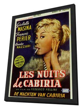 Nights of Cabiria - 11 x 17 Poster - Foreign - Style A - in Deluxe Wood Frame