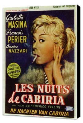 Nights of Cabiria - 11 x 17 Poster - Foreign - Style A - Museum Wrapped Canvas
