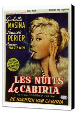Nights of Cabiria - 27 x 40 Movie Poster - Foreign - Style A - Museum Wrapped Canvas