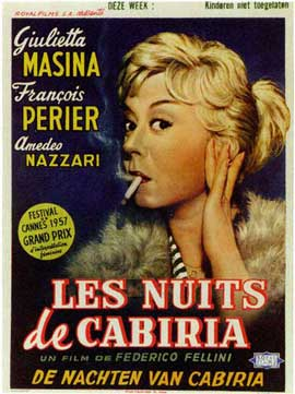 Nights of Cabiria - 11 x 17 Movie Poster - Belgian Style A