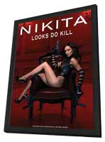 Nikita (TV) - 27 x 40 TV Poster - Style C - in Deluxe Wood Frame
