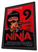 Nine Deaths of the Ninja - 27 x 40 Movie Poster - Style A - in Deluxe Wood Frame