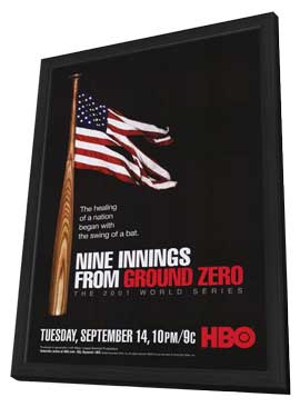 Nine Innings from Ground Zero - 11 x 17 Movie Poster - Style A - in Deluxe Wood Frame