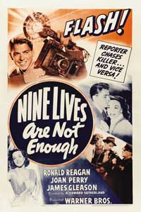 Nine Lives Are Not Enough - 11 x 17 Movie Poster - Style A