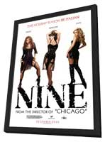 Nine - 11 x 17 Movie Poster - Style C - in Deluxe Wood Frame
