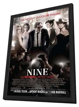 Nine - 27 x 40 Movie Poster - Style A - in Deluxe Wood Frame