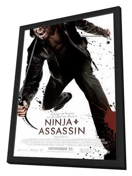 Ninja Assassin - 27 x 40 Movie Poster - Style A - in Deluxe Wood Frame
