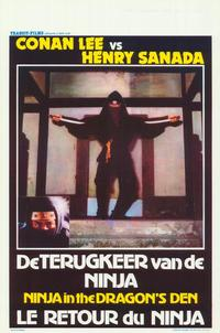 Ninja in the Dragon's Den - 27 x 40 Movie Poster - Belgian Style A
