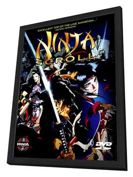 Ninja Scroll - 27 x 40 Movie Poster - Style A - in Deluxe Wood Frame