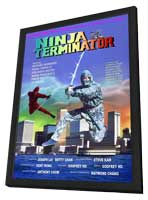 Ninja Terminator - 27 x 40 Movie Poster - Hong Kong Style A - in Deluxe Wood Frame