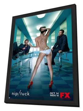 Nip/Tuck (TV) - 11 x 17 TV Poster - Style O - in Deluxe Wood Frame