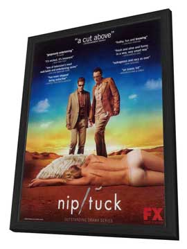 Nip/Tuck (TV) - 27 x 40 TV Poster - Style C - in Deluxe Wood Frame