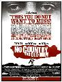 No Country For Old Men - 43 x 62 Movie Poster - Bus Shelter Style E