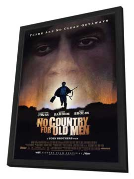 No Country For Old Men - 11 x 17 Movie Poster - Style A - in Deluxe Wood Frame