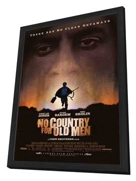 No Country For Old Men - 27 x 40 Movie Poster - Style A - in Deluxe Wood Frame