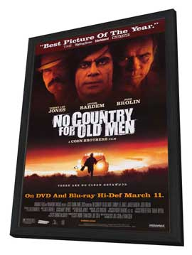 No Country For Old Men - 27 x 40 Movie Poster - Style F - in Deluxe Wood Frame
