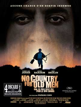 No Country For Old Men - 27 x 40 Movie Poster - French Style A