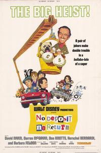 No Deposit, No Return - 11 x 17 Movie Poster - Style B