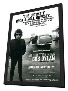 No Direction Home: Bob Dylan - 27 x 40 Movie Poster - Style A - in Deluxe Wood Frame