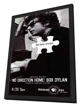 No Direction Home: Bob Dylan - 20 x 40 Movie Poster - Style A - in Deluxe Wood Frame