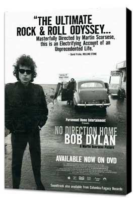 No Direction Home: Bob Dylan - 27 x 40 Movie Poster - Style A - Museum Wrapped Canvas