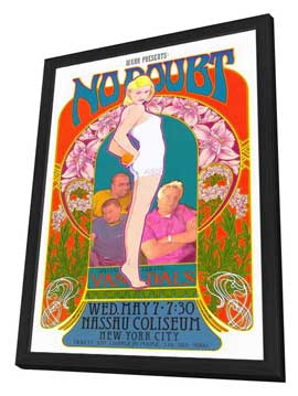 No Doubt - 11 x 17 Music Poster - Style B - in Deluxe Wood Frame