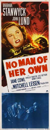 No Man of Her Own - 14 x 36 Movie Poster - Insert Style A