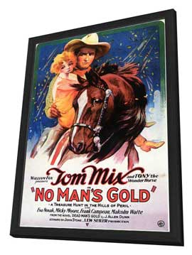 No Man's Gold - 27 x 40 Movie Poster - Style A - in Deluxe Wood Frame