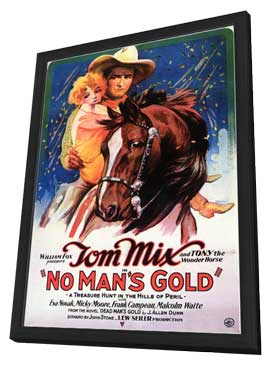 No Man's Gold - 11 x 17 Movie Poster - Style A - in Deluxe Wood Frame