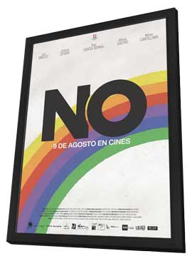 No - 11 x 17 Movie Poster - Chilean Style A - in Deluxe Wood Frame
