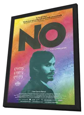 No - 11 x 17 Movie Poster - Canadian Style A - in Deluxe Wood Frame