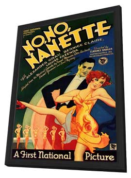 No No Nanette - 11 x 17 Movie Poster - Style A - in Deluxe Wood Frame