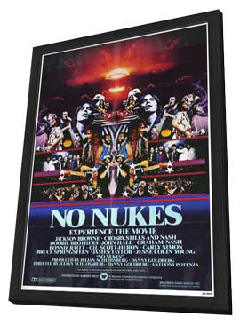 No Nukes - 11 x 17 Movie Poster - Style A - in Deluxe Wood Frame