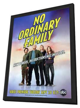 No Ordinary Family - 11 x 17 TV Poster - Style A - in Deluxe Wood Frame