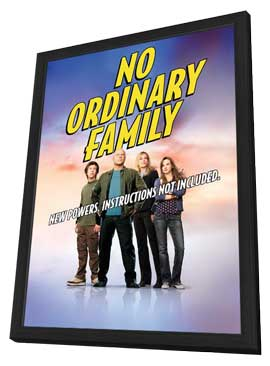 No Ordinary Family - 27 x 40 TV Poster - Style A - in Deluxe Wood Frame