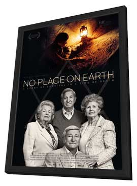 No Place on Earth - 11 x 17 Movie Poster - UK Style A - in Deluxe Wood Frame