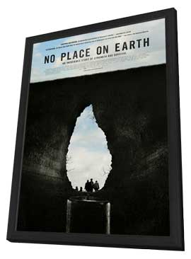 No Place on Earth - 27 x 40 Movie Poster - Style A - in Deluxe Wood Frame