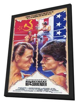 No Retreat, No Surrender - 11 x 17 Movie Poster - Style A - in Deluxe Wood Frame