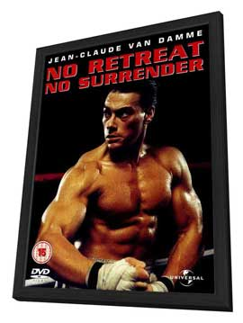 No Retreat, No Surrender - 27 x 40 Movie Poster - UK Style A - in Deluxe Wood Frame