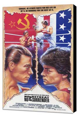 No Retreat, No Surrender - 27 x 40 Movie Poster - Style A - Museum Wrapped Canvas