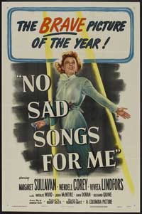 No Sad Songs for Me - 27 x 40 Movie Poster - Style A