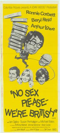 No Sex Please--We're British - 13 x 29 Movie Poster