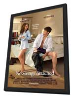 No Strings Attached - 11 x 17 Movie Poster - Style A - in Deluxe Wood Frame