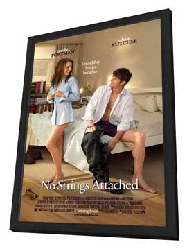 No Strings Attached - 27 x 40 Movie Poster - Style A - in Deluxe Wood Frame