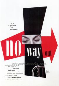 No Way Out - 43 x 62 Movie Poster - Bus Shelter Style A