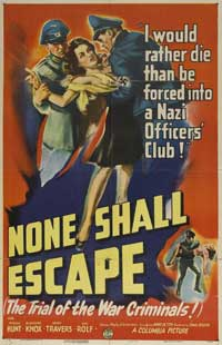 None Shall Escape - 30 x 40 Movie Poster UK - Style A
