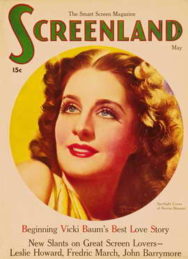Norma Shearer - 11 x 17 Screenland Magazine Cover 1930's Style A