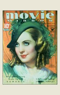 Norma Shearer - 11 x 17 Movie Mirror Magazine Cover 1930's Style A
