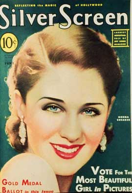 Norma Shearer - 27 x 40 Movie Poster - Silver Screen Magazine Cover 1930's Style A